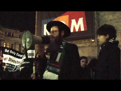 Rabbi Dovid Feldman Speaking in Toronto Against Israeli Attack on Gaza