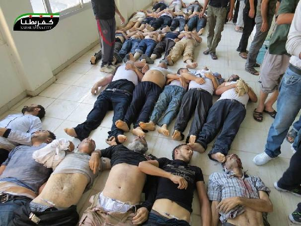 Syrian children among victims of Assad's new gas attacks ... |Dead Syrians