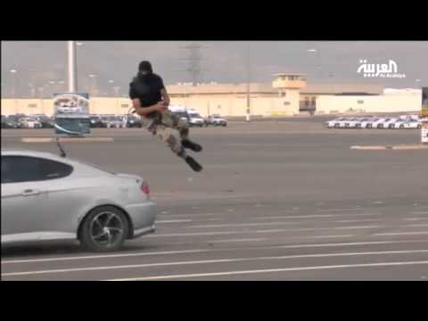 Video: Saudi Soldier Jumps Over Speeding Car