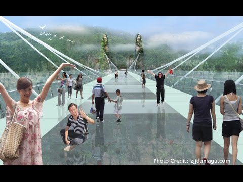 Video: World's Longest and Highest Glass-Bottom Bridge Opens in China