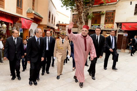 King Mohammed VI Visits Several Restored Historic Sites in Old Medina of Fez